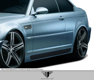 BMW M3 Convertible AF-2 Aero Function Side Skirts Body Kit 2001-2006