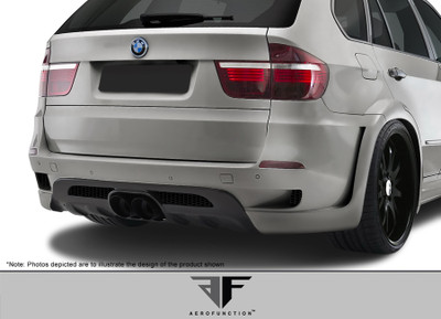 BMW X5 AF-1 Aero Function Rear Wide Body Kit Bumper 2010-2013