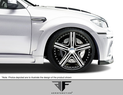 BMW X6 AF-5 Aero Function Body Kit- Wide Front Fenders 2008-2014