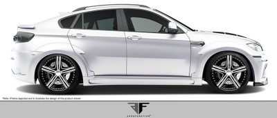 BMW X6 AF-5 Aero Function Side Skirts for Wide Body Kit 2008-2014