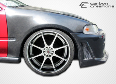 Honda Civic 2DR OEM Carbon Fiber Creations Body Kit- Fenders 1992-1995