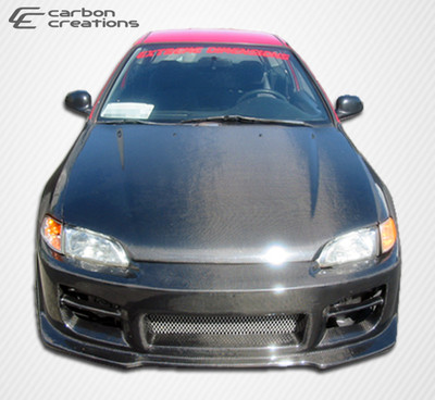 Honda Civic 2DR OEM Carbon Fiber Creations Body Kit- Hood 1992-1995