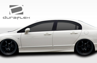 Honda Civic 4DR Type R Duraflex Side Skirts Body Kit 2006-2011