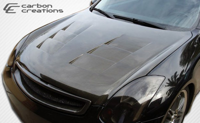 Infiniti G Coupe 2DR TS-1 Carbon Fiber Creations Body Kit- Hood 2003-2007