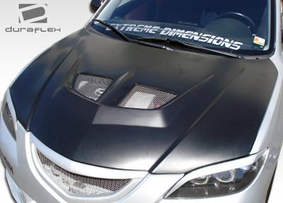 Mazda 3 4DR Evo Duraflex Body Kit- Hood 2004-2009