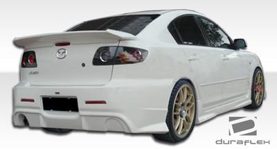 Mazda 3 4DR I-Spec Duraflex Rear Body Kit Bumper 2004-2009