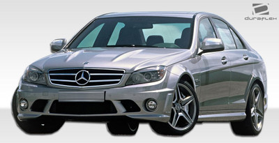 Mercedes C Class 4DR C63 Look Duraflex Full 5 Pcs Body Kit 2008-2011
