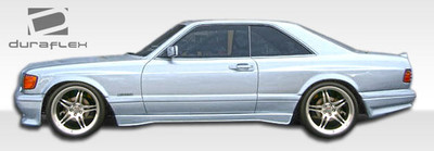 Mercedes S Class 2DR AMG Look Duraflex Side Skirts for Wide Body Kit 1981-1991