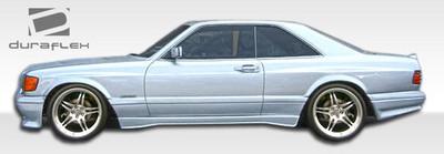 Mercedes S Class 2DR AMG Look Duraflex Wide Door Cap 1981-1991