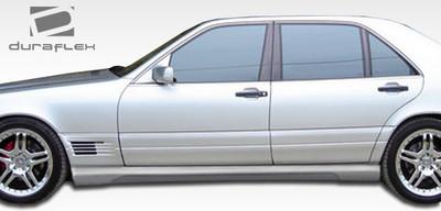 Mercedes S Class W-1 Duraflex Side Skirts Body Kit 1992-1999