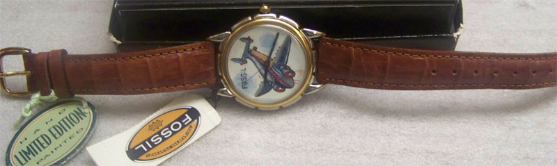 Fossil Airplane Watch Fossil Hand Painted Watch