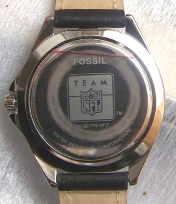 Jacksonville Jaguars Fossil Watch Jax Jags Mens Vintage 1998