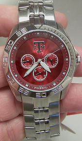 Texas A&M Aggies Fossil Watch Mens Multifunction Wristwatch LI2912 New