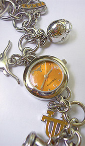 Texas Longhorns Fossil Charm Bracelet Watch Li2453