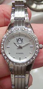Auburn Tigers Fossil Watch Womens Glitz wristwatch with Date Li2790