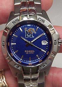 Memphis Tigers Fossil  Watch Mens Three Hand Date Wristwatch Li2953