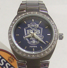 Auburn Tigers 2010 BCS Championship Watch Ladies Fossil Glitz Li3092