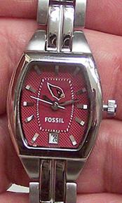 Arizona Cardinals Fossil Logo Watch. Ladies 3 Hand Analog NFL1184