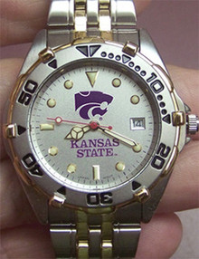 Kansas State Wildcats Mens Watch LogoArt All Star SS with Date