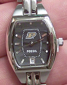 Purdue Boilermakers Fossil 3 hand Womens watch w date display Li3037