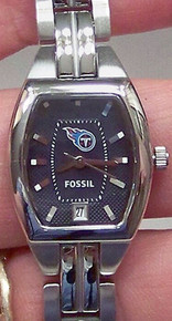 Tennessee Titans Fossil Watch Womens Three Hand Date Wristwatch