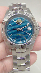 Jacksonville Jaguars Jax Jags Fossil Watch Mens Three Hand Date