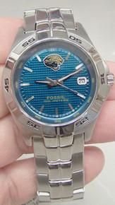 Jacksonville Jaguars Jax Jags Fossil Watch Mens Three Hand Date