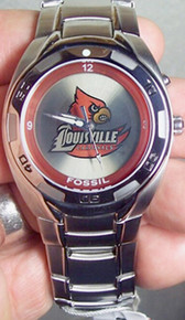 Louisville Cardinals Fossil Kaleido Watch Men's Li2368 Flashing logo