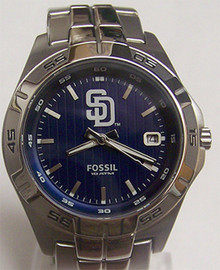 San Diego Padres Fossil Watch Mens Three Hand Date wristwatch MLB1052