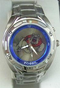 Fresno State University Bulldogs Fossil Kaleido Watch Mens Li2438