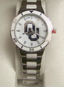 Oklahoma Sooners Mother of Pearl Watch GameTime Womens COL-PEA-OK