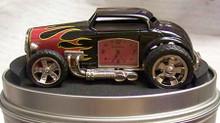 Fossil Hot Rod Desk Clock. Vintage Novelty LE Collectible Roadster