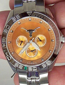 Texas Longhorns Fossil Mens Multifunction II Two Watch LI2777