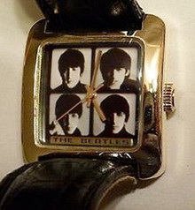 The Beatles Fossil Watch Hard Days Night Gold Tone Wristwatch Lmt Ed