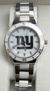 New York Giants Pearl Watch Ladies Game Time Gametime MOP Wristwatch