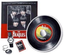 The Beatles Fossil Watch Apple Li1591 Vintage Collectors set Key Chain