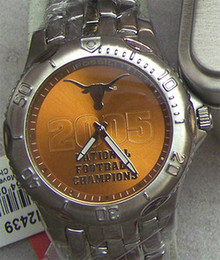 Texas Longhorns Fossil Watch 2005 Football Championship Li2439 Mens