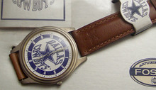 Dallas Cowboys Fossil Watch Mens Vintage 1993 Watch  in box