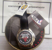 Chicago Bulls Fossil Watch Vintage 1996 NBA Champions Wristwatch