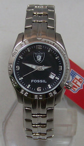 Oakland Raiders Fossil Watch Womens Sport Wristwatch with Date NFL1080