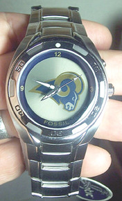 NFL Rams Fossil Watch Flashing Rams logo Kaleido Mens