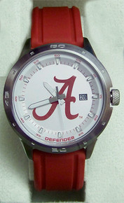 Alabama Crimson Tide Fossil Defender Three Hand Date Silicone Watch