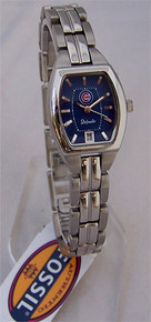 Chicago Cubs Fossil Ladies Three Hand Date Watch Defender MLB1009