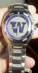 University of Washington Huskies Fossil Kaleido Watch Flash logo