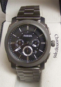 Fossil Mens Smoke colored Chronograph Machine Watch FS4662