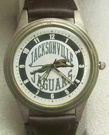 Jacksonville Jaguars Jax Jags Fossil Watch Vintage 1993 Leather band