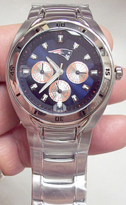New England Patriots Fossil Watch Mens Multifunction Wristwatch
