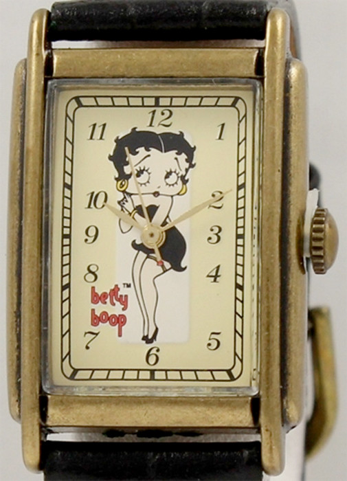 betty boop watch fossil vintage with pin and tin li 1044. Black Bedroom Furniture Sets. Home Design Ideas
