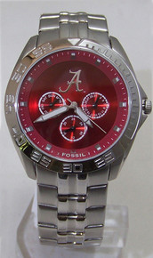 Alabama Crimson Tide Fossil Watch Mens Multifunction Wristwatch Li2780