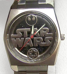 Star Wars Death Star Fossil Watch Set with case and lapel pin Li-1568